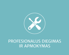 Profesionalus diegimas ir apmokymas